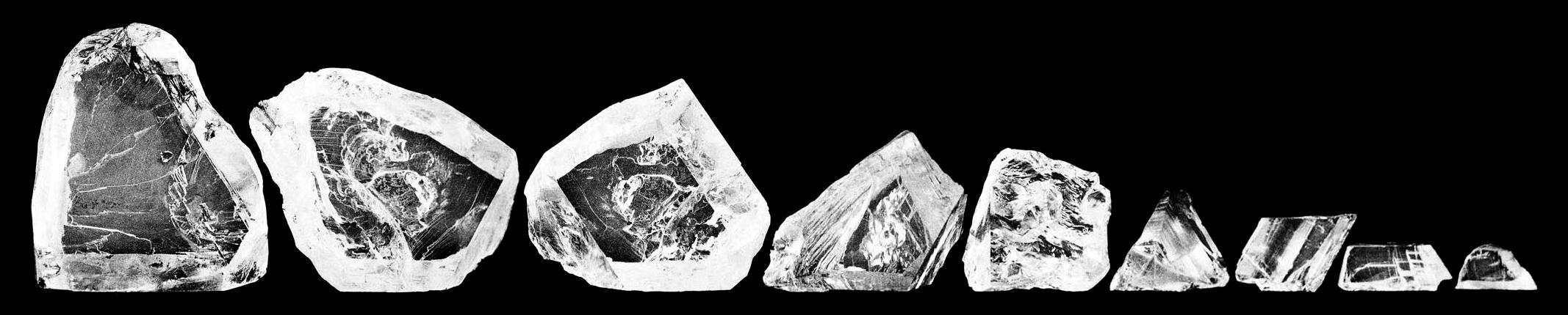 kawałki diamentu Cullinan