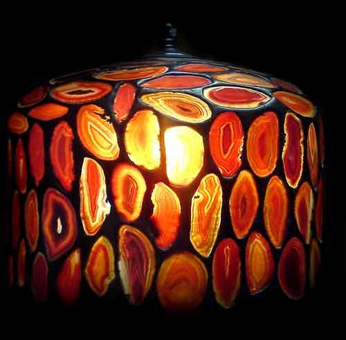 lampa z agatów
