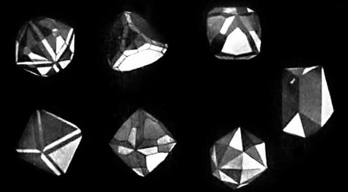 formy diamentów