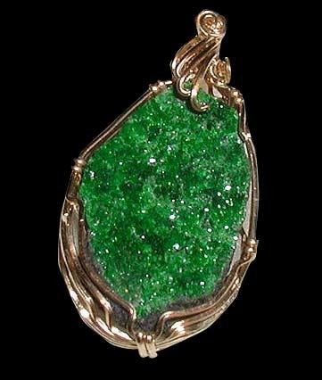 uwarowit  - zielony granat